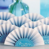 OMBRE PAPER FAN PLACE CARD