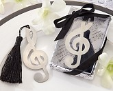 """Timeless Duet"" Brushed-Metal Openwork Bookmark with Elegant Silk Tassel"