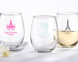 Personalized Stemless 9 oz Wine Glass