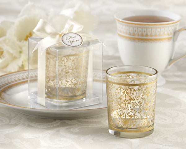 """Golden Renaissance"" Tealight Holders (set of 4)"