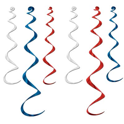 Red, White & Blue Twirly Whirlys
