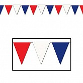 """Outdoor Pennant Banner 17"""" x 120'"""