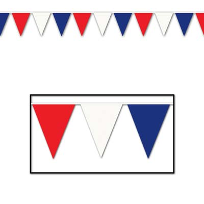 "Outdoor Pennant Banner 17"" x 30'"