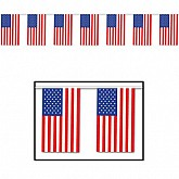 """Outdoor American Flag Banner 17"""" x 60'"""