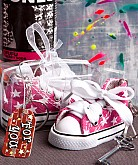 OH-SO-CUTE Pink Star Print Baby Sneaker Key Chain