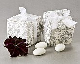 Classic Damask Square Favor Box (set of 24)