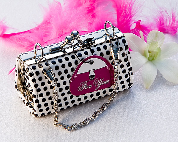 Posh Polka Dot Mini Change Purse