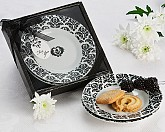 Dramatic Damask Party Dish Favor (set of 2)