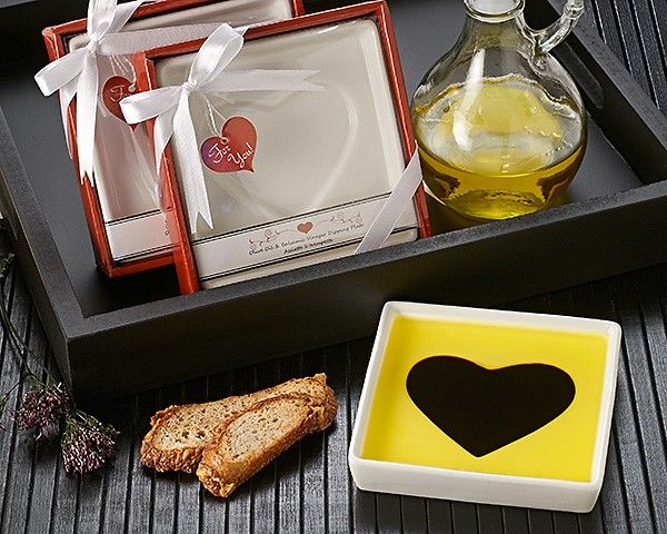 """Love Infused"" Olive Oil and Balsamic Vinegar Dipping Plate/Dish"