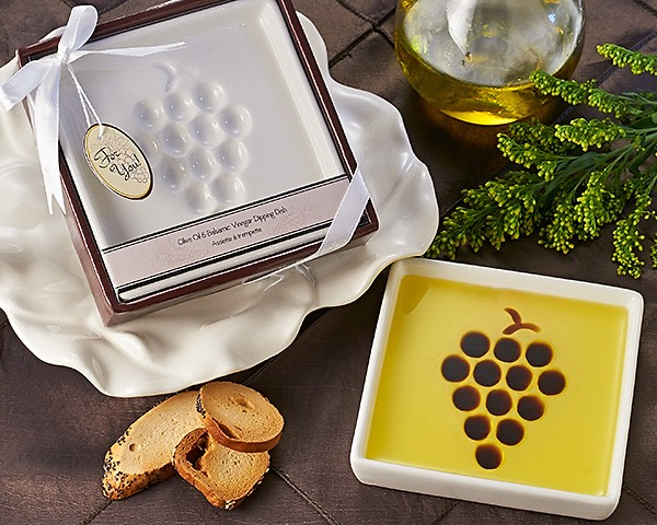 """Vineyard Select"" Olive Oil and Balsamic Vinegar Dipping Plate/Dish"