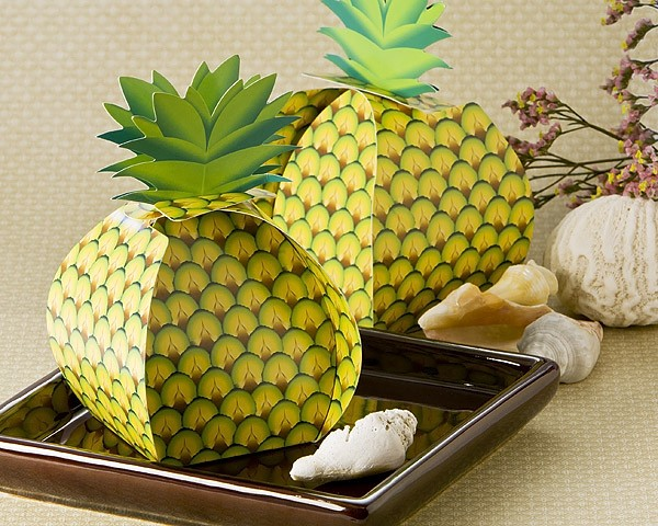 """Tropical Treats"" Oversized Pineapple Favor Box (24 Pack)"