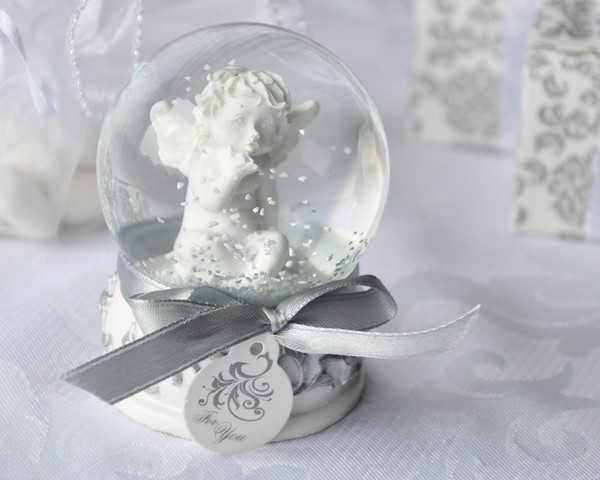 """Angel Kisses"" Cherub Snow Globe Favor"