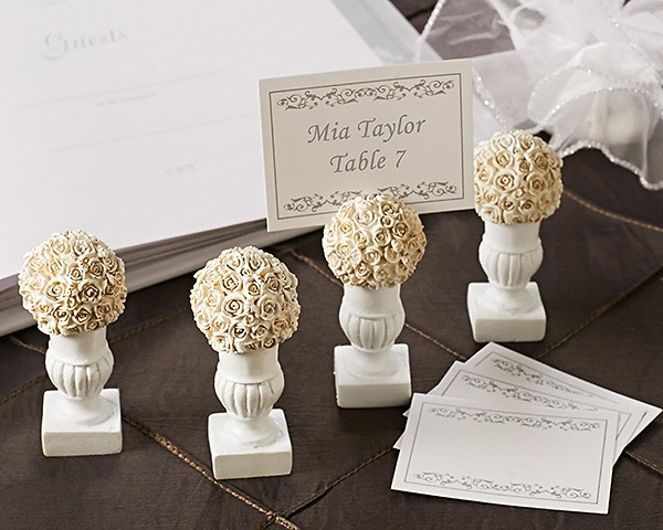 """Rose Blossoms"" Place Card/Photo Holder (4 Pack)"