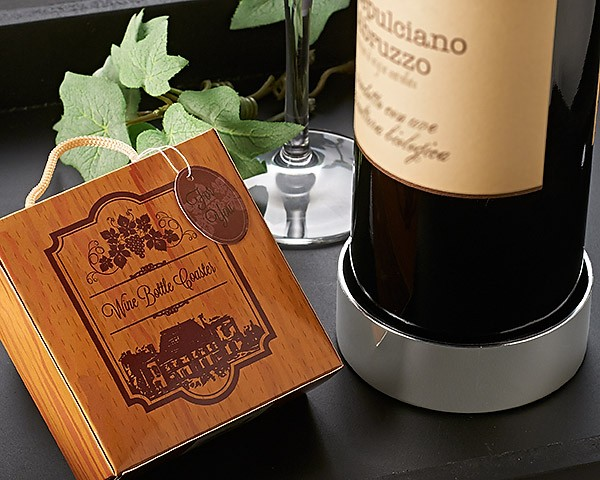 """Vineyard Estate"" Wine Bottle Coaster"
