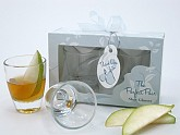 """Perfect Pair"" Shot Glasses in Designer Favor Gift Box"