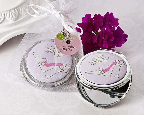 """Sassy Stiletto"" High Heel Compact Mirror Favor"