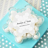 """""""A Winter Holiday"""" Snowflake Acrylic Favor Boxes"""