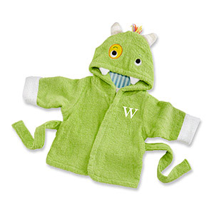 """My Little Monster"" Hooded Spa Robe"