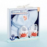 """Coastal Cutie"" Sun Hat and Spa Booties Gift Set (Boy)"