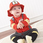 Baby Firefighter Two-Piece Layette