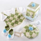 """Sweet Tee"" Three Piece Golf Layette Set in Golf Cart Packaging"