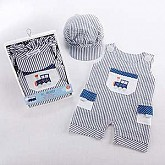 """All Aboard!"" Romper and Hat Set"