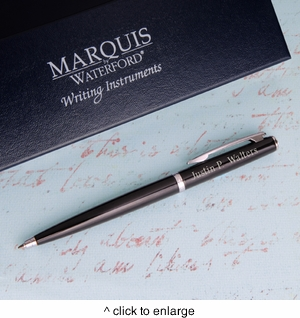 Personalized Waterford Arcadia Ballpoint Pen - Black