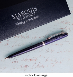 Personalized Waterford Arcadia Ballpoint Pen - Blue