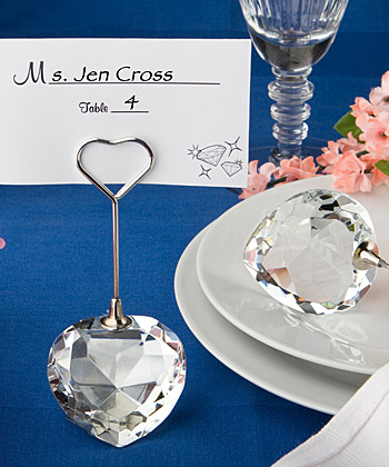 Choice Crystal Collection Heart Design Place Card Holders