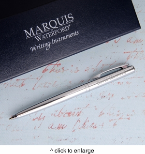 Personalized Waterford Arcadia Ballpoint Pen - Chrome/Silver