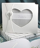 Cross and Heart Design Guest Book