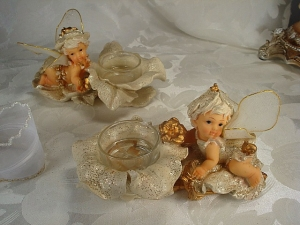 Mini Fairy w/votive Asst 2