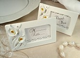 Deluxe placecard photo frame calla lily design