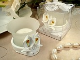 Deluxe tealight candle holder calla lily design