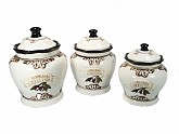 3 Piece Ceramic Canister Set Cucina Italiana Design