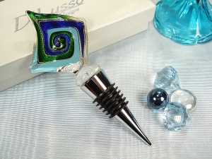 Murano design bottle stopper multi diamond