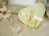 Mini Crystal Carriage In Satin Lined Heart Box