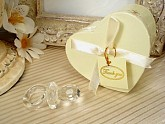Mini Crystal Pacifier In Satin Lined Heart Box