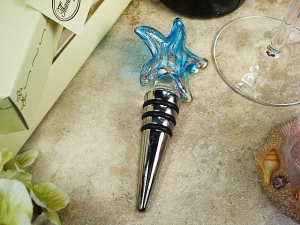Murano Style Glass Bottle Stopper Starfish