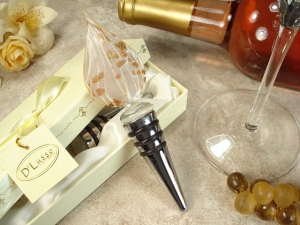 Murano Bottle Stopper Wedding Favor Light Color