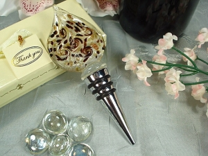 Murano Design Damask Design Bottle Stopper Wedding Favor