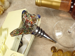 Multi Color Murano Butterfly Bottle Stopper