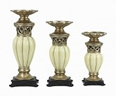 Juliana Collection Three Piece Hurricane Candle Set