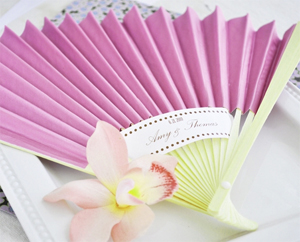 Colored Paper Fans Party favors