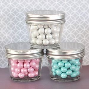 DIY Blank Small 4 oz Mason Jar Favors