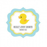 DIY  Rubber Ducky Frame Personalized Baby Shower Labels
