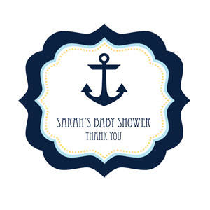Nautical Baby Shower Frame Personalized Labels