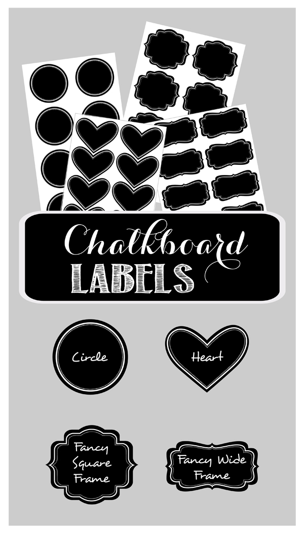 DIY Vinyl Chalkboard Labels (set of 24)