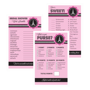 Bridal Shower Games (Set of 10) - Parisian Party