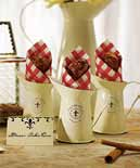 Decorative Mini Enamel Pitcher French Provincial Style Wedding Favor (pkg of 4)